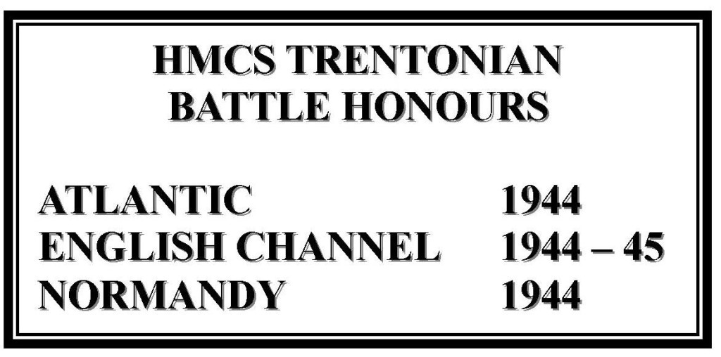 HMCS TRENTONIAN Battle Honours