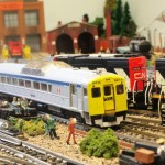 Custom Paint -VIA Rail RDC 6215 on the Trenton Subdivision in N Scale