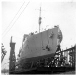 Corvette and Laundry Out to Dry -HMCS MORDEN