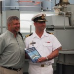 HMCS KINGSTON Presented With Copy of Roger's Book