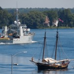 Old Meets New -HMCS GLACE BAY