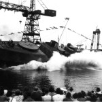Launching HMCS NAPANEE