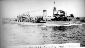 HMCS TRENTONIAN off Land's End on 22 February 1945.
