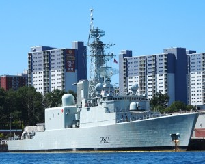 Ex-HMCS IROQUOIS at HMC Dockyard in Halifax on 5 September 20015, shortly after she was paid off from the Royal Canadian Navy.