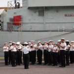 HMCS ONTARIO Band with HMCS KINGSTON