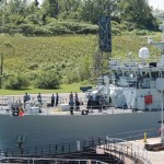 HMCS GLACE BAY Entering Iroquois Lock