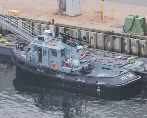 Royal Canadian Navy's harbour tug MERRICKVILLE alongside at Halifax on 26 June 2011.  Roger Litwiller Collection, courtesy Roger Litwiller. (RTL60989)