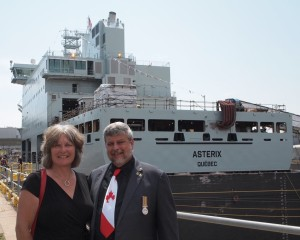 Thank you Chantier Davie and Federal Fleet for including Rhonda and myself in the christening of Asterix. Roger Litwiller Collection, courtesy Roger Litwiller. (IMG_3022)