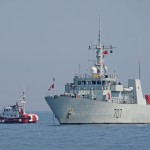HMCS GOOSE BAY with CCGS CAPE MERCY