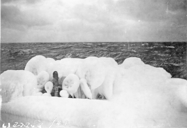 HMCS WASAGA Under Ice