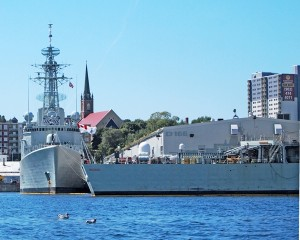HMCShips ATHABASKAN and IROQUOIS in HMC Dockyard Halifax, all four RCN destroyers have been retired from service without replacements. Photo courtesy Roger Litwiller.
