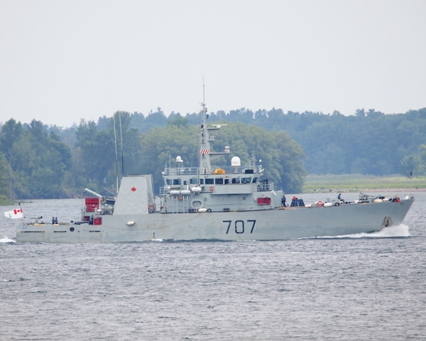 HMCS GOOSE BAY on the St. Lawrence River