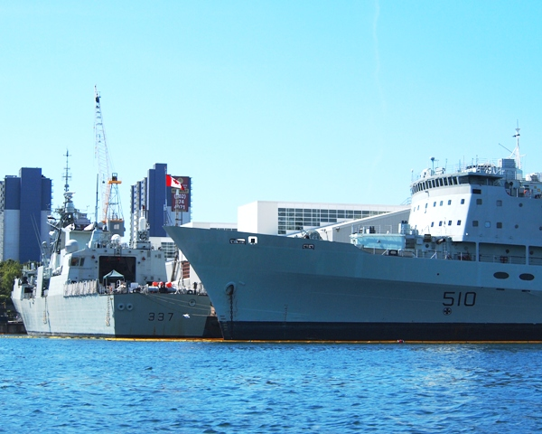 HMCShips PRESERVER and FREDERICTON