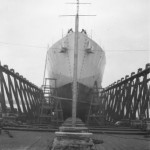 HMCS WASAGA Out of the Water