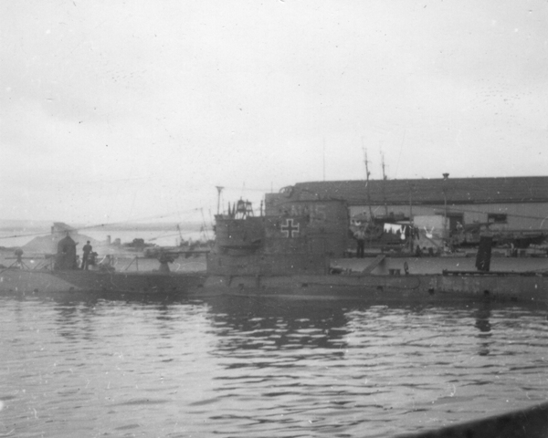 HMSub TRUSTY with German U-Boat