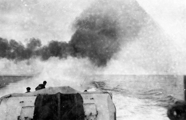 HMCS IROQUOIS Dropping Depth Charges