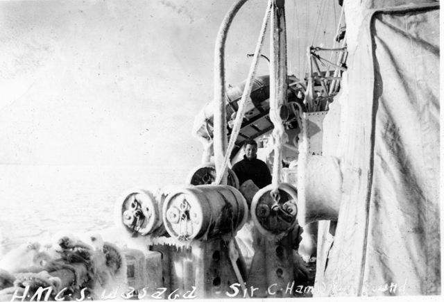 HMCS WASAGA's Iced Depth Charges