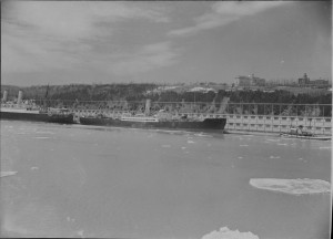 Canadian Pacific Ships, SS Beaverford in Montreal 1940. LAC Photo